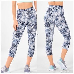 Fabletics high waisted printed powerhold crop